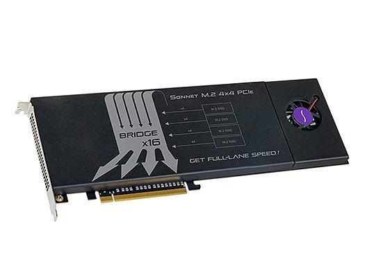 Sonnet SSD M.2 4x4, NVMe SSD PCIe Karte