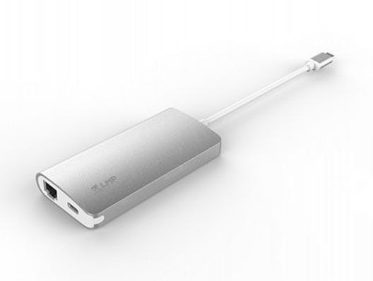 LMP USB-C Network Hub Silber