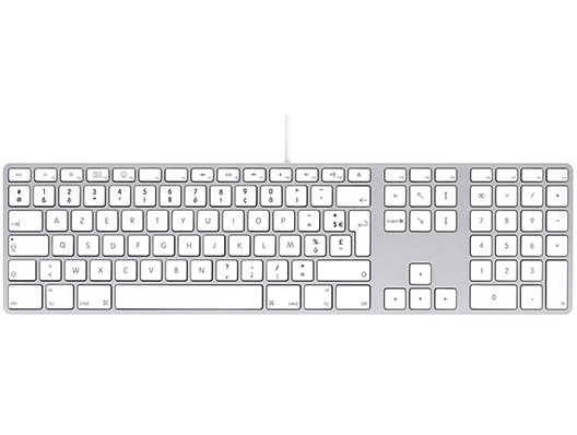 LMP USB Tastatur mit Zahlenblock FR Layout
