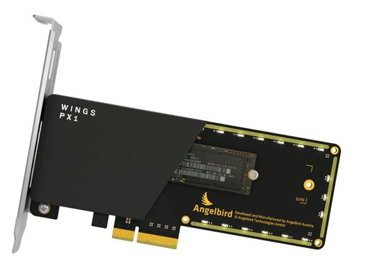 angelbird wings px1 m 2 pcie adapter. Black Bedroom Furniture Sets. Home Design Ideas