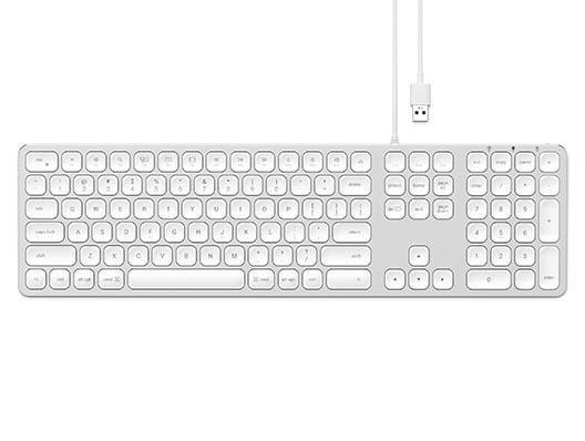 Satechi USB Keyboard - Silber Weiss