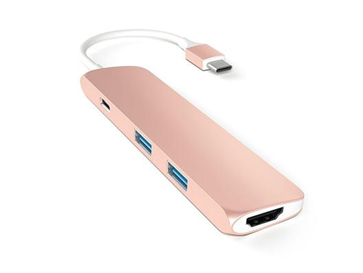 Satechi Slim USB-C Multi-Port Adapter - Roségold