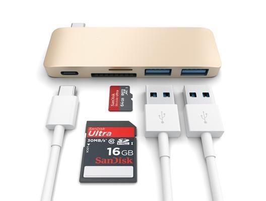 Satechi USB-C Combo Hub Gold