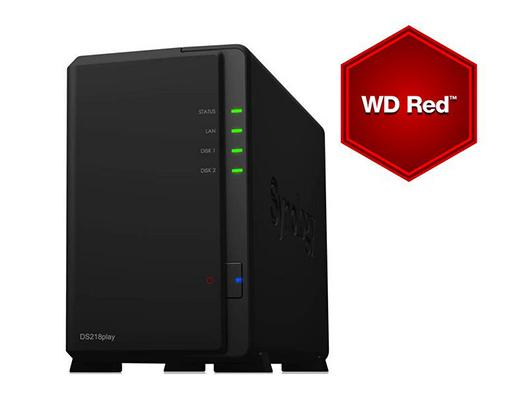 Synology NAS DS218play 2bay 12TB WD Red