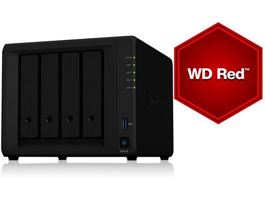 Synology NAS DS418play 4bay 12TB WD RED