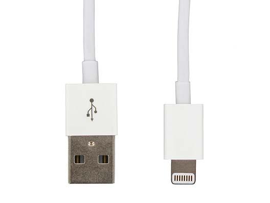 LMP Lightning auf USB Kabel, Ladekabel für iPad/iPod/iPhone, 1 Meter, weiss