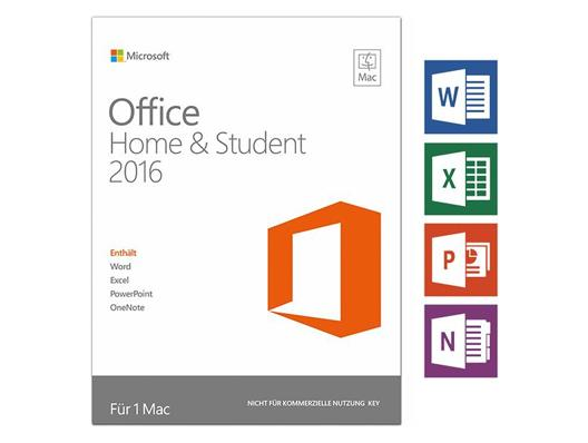 Microsoft Office 2016 Mac Home & Student DE